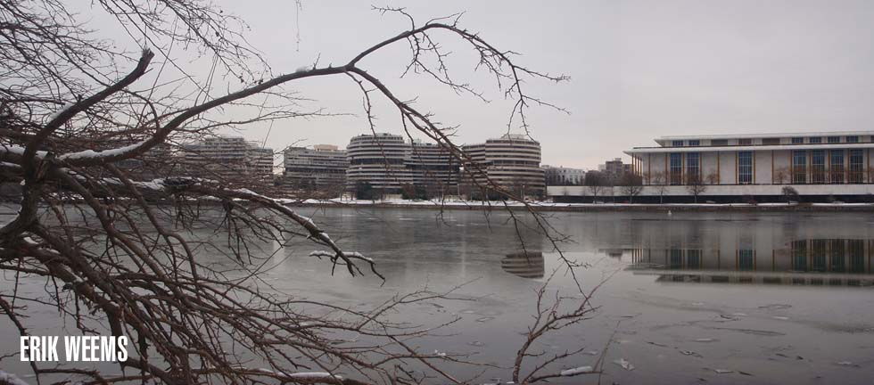 Kennedy Center Snow and Ice and Watergate