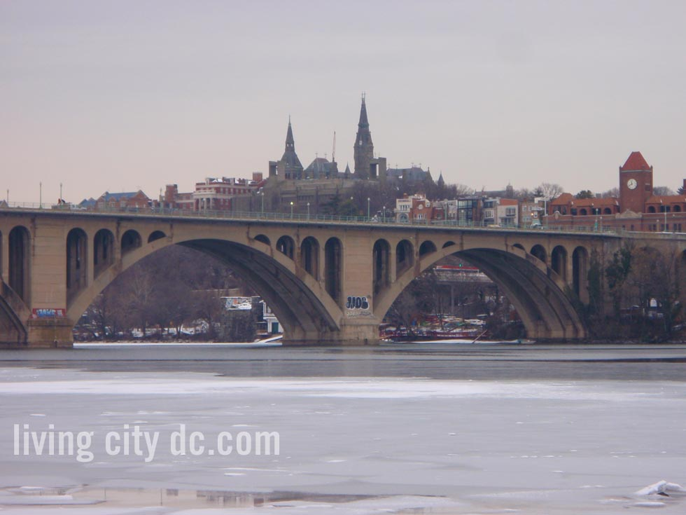 Key Bridge in Winter