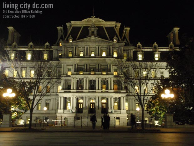Night Time Old Executive Office Building - Eisenhower Building
