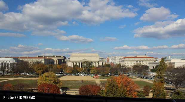 Archives view from the National Mall - Hirshhorn Museum  Balcony Photo by Erik Weems