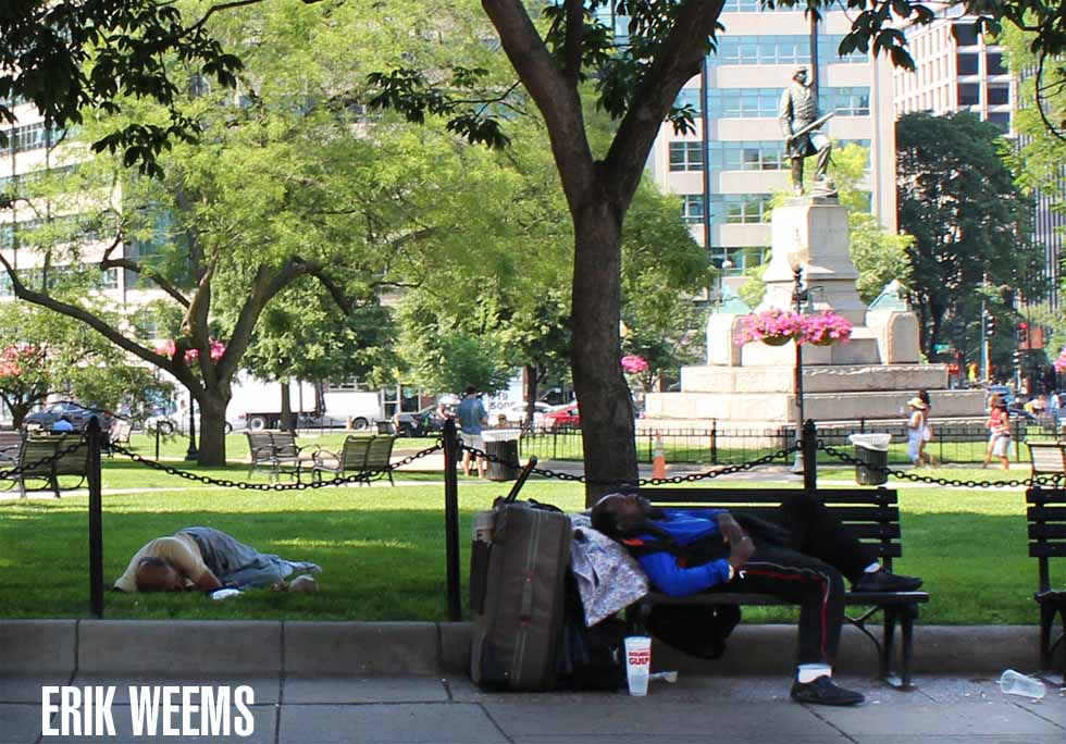 Farragut Park Homeless Photo by Erik Weems