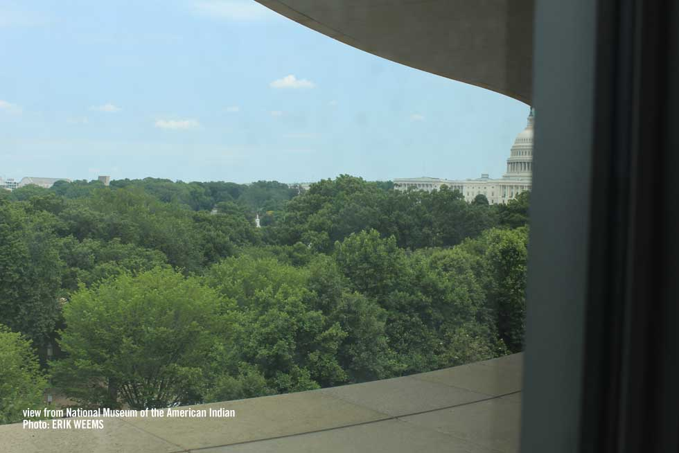 View of the Capitol from the National Museum of the merican Indian