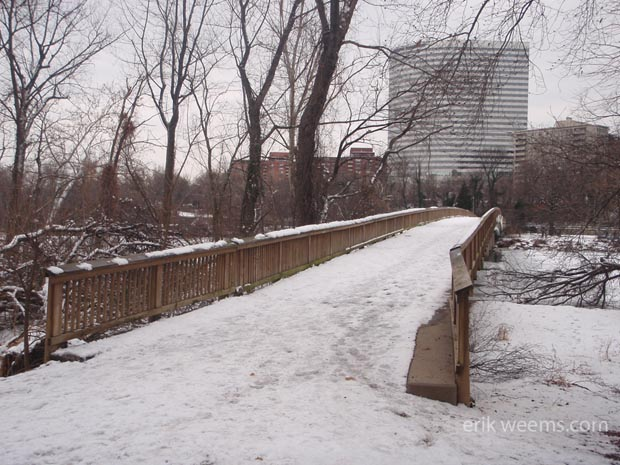Roosevelt Island Bridge - Snow Covered