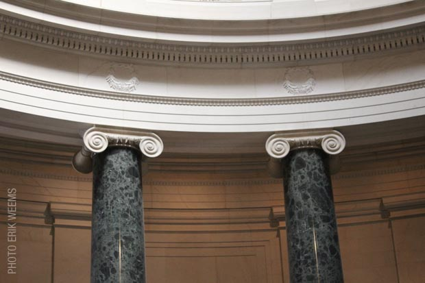Inside the National Gallery of Art - Ionic Columns