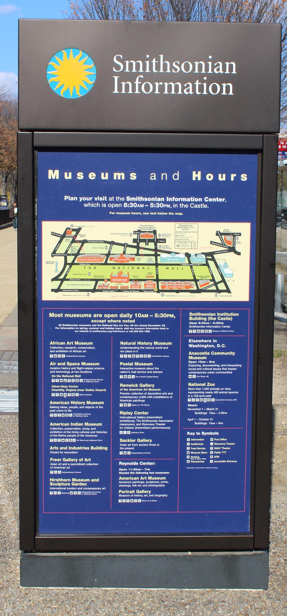 Smithsonian Museum Mapo and Schedule