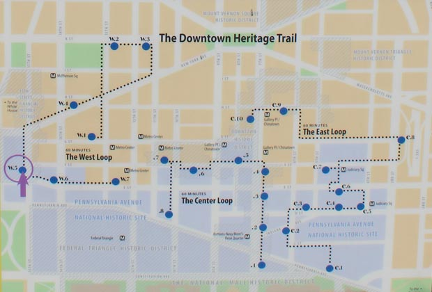 Downtown Washington DC Heritage Trail