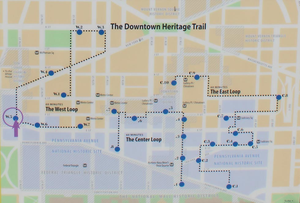 Enlarged - Downtown Washington DC Heritage Trail