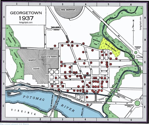 Georgetown Map of area 1937