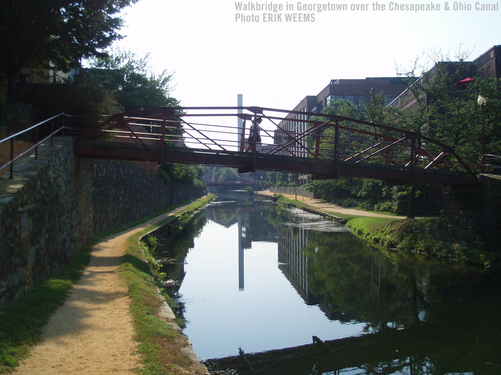 Walkbridge over the Chesapeake and Ohio Canal in Gerogetown