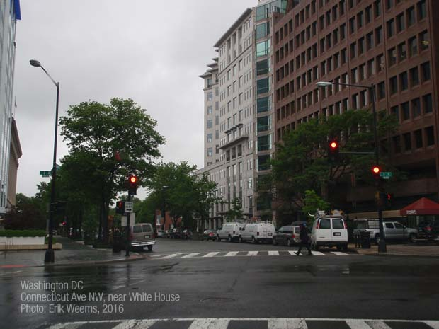 Connecticut Ave NW near White House - in the rain