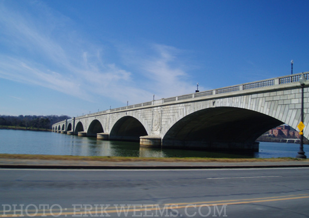 Memorial Bridge in Washington DC
