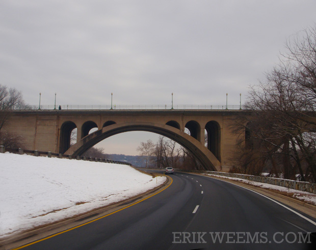 Snow and the Key bridge