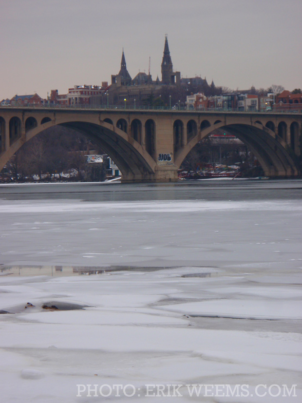 Francis Scott Key Bridge Ice and snow