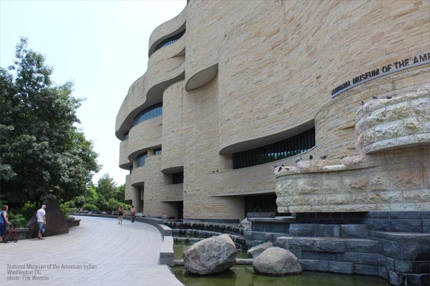 Exterior outside National Museum of the American Indian